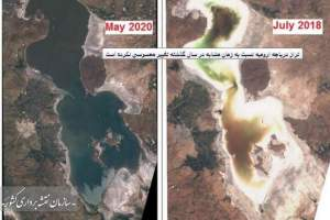 The level of Urmia Lake has not changed significantly, comparing to same period last year
